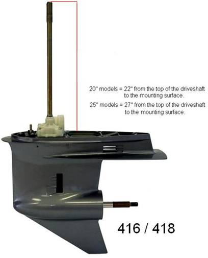 "Yamaha Driveshaft 25/"" 63P-45501-10-00 4 Stroke 150hp Lower Unit EI"